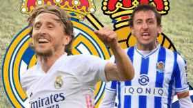 Luka Modric y Mikel Oyarzabal