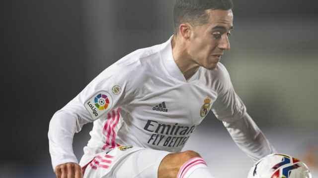 Lucas Vázquez, en un partido del Real Madrid en la temporada 2020/2021