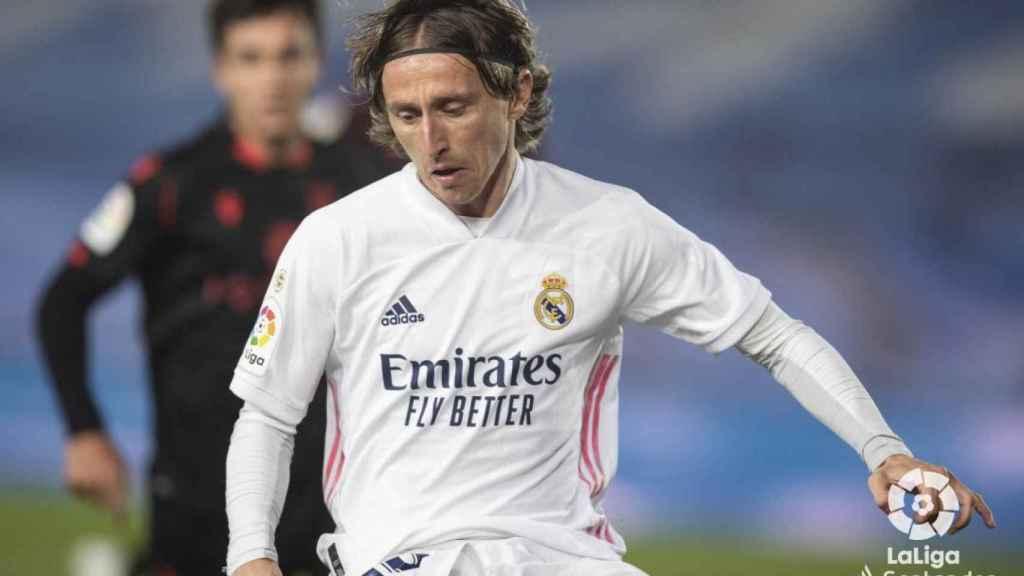 Luka Modric, en el Real Madrid - Real Sociedad de La Liga