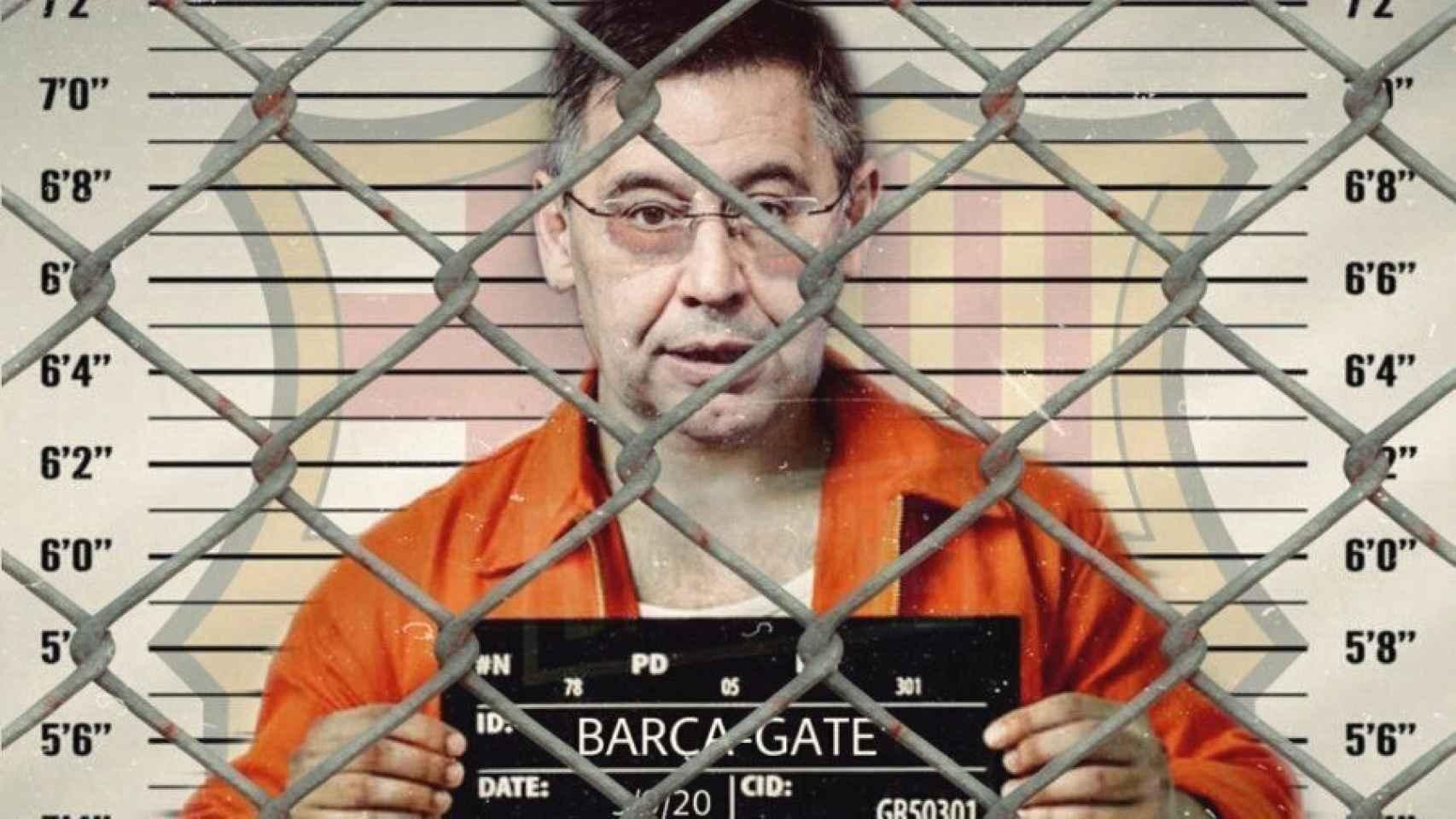 Bartomeu con el tradicional posado en la cárcel