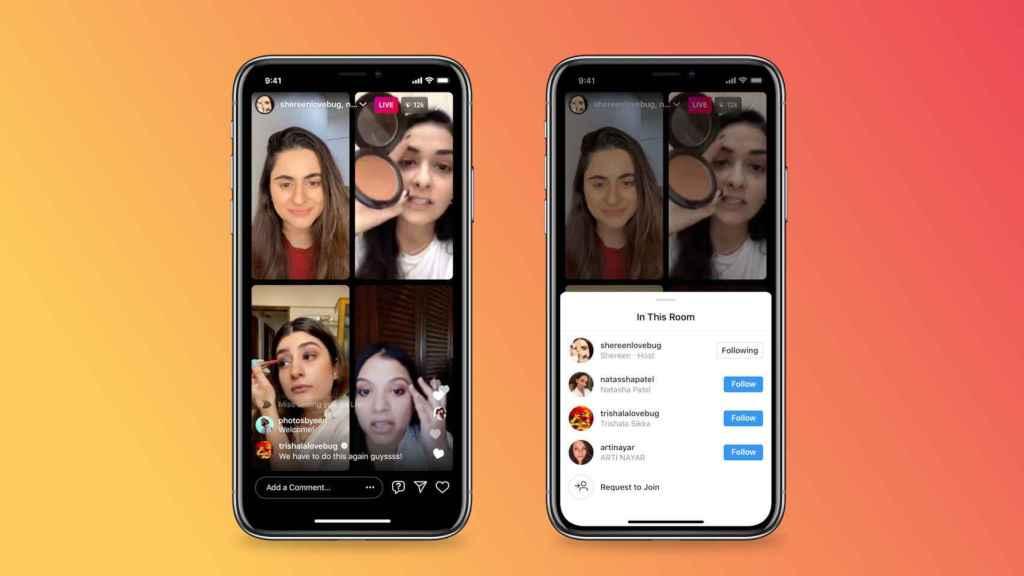 Nuevos directos de cuatro personas de Instagram