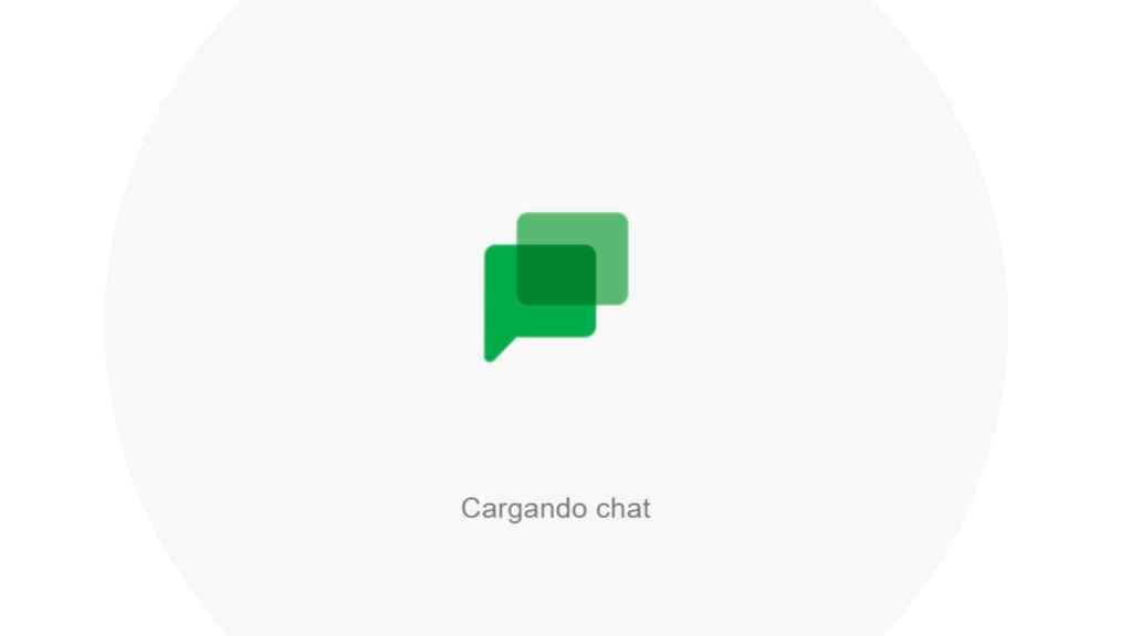 Pantalla de carga de la nueva app de Google Chat para ordenador