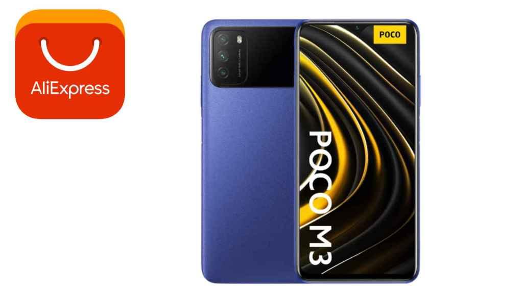 AliExpress ofrece el Poco M3 de Xiaomi por menos de cien euros.