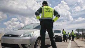 Intervención de la Guardia Civil de Tráfico.