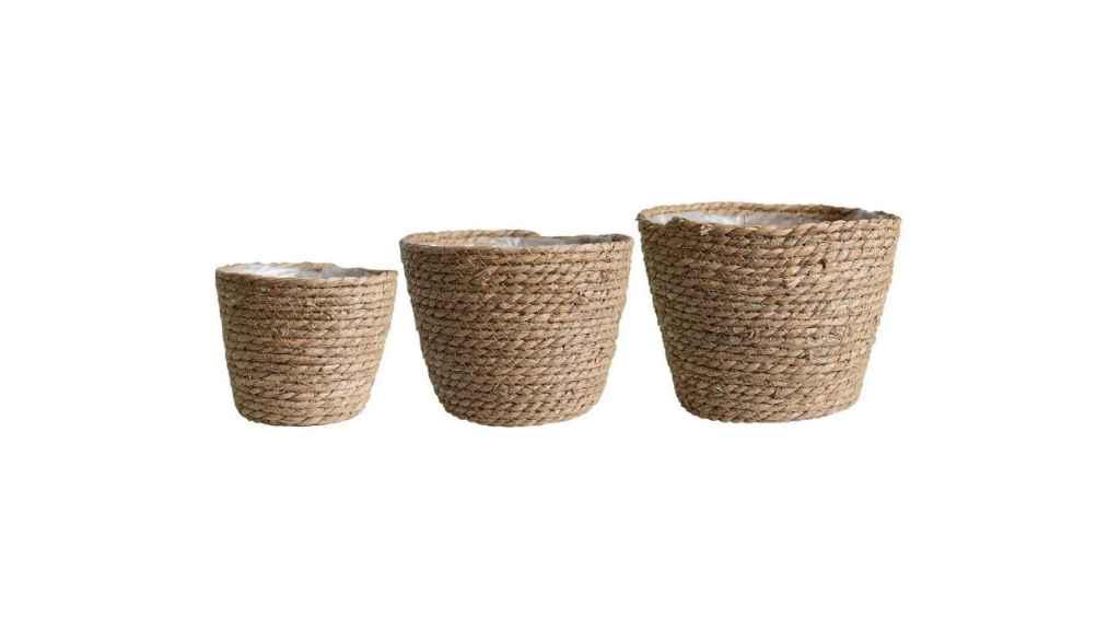 Juego de 3 cestas