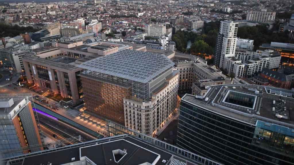 El Edificio Europa de Bruselas, donde se celebran las reuniones de ministros de Finanzas de la UE