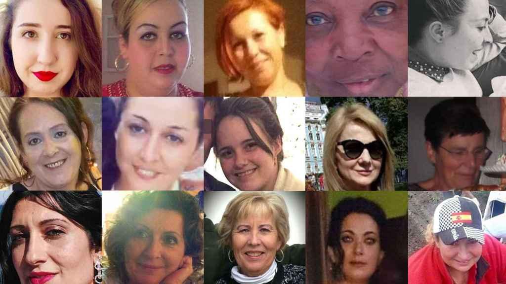 Los rostros de algunas de las mujeres asesinadas el año pasado.
