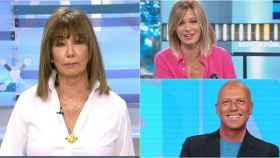 Ana Rosa Quintana, Susanna Griso y Alfonso Arús en montaje de BLUPER.