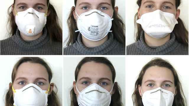 Comparativa del sellado de varias mascarillas, de la FFP2 a la quirúrgica. Eugenia O'Kelly et al.