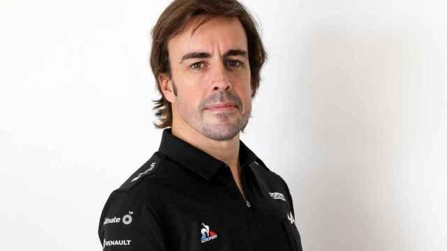 Fernando Alonso, con los colores de Alpine