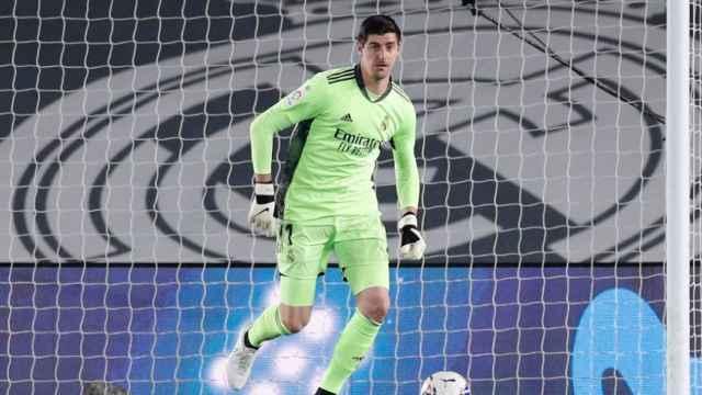 Courtois, durante un partido del Real Madrid en el Di Stéfano
