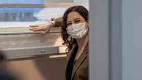 Isabel Díaz Ayuso en su visita a las instalaciones de la Agencia de Seguridad y Emergencias Madrid 112.