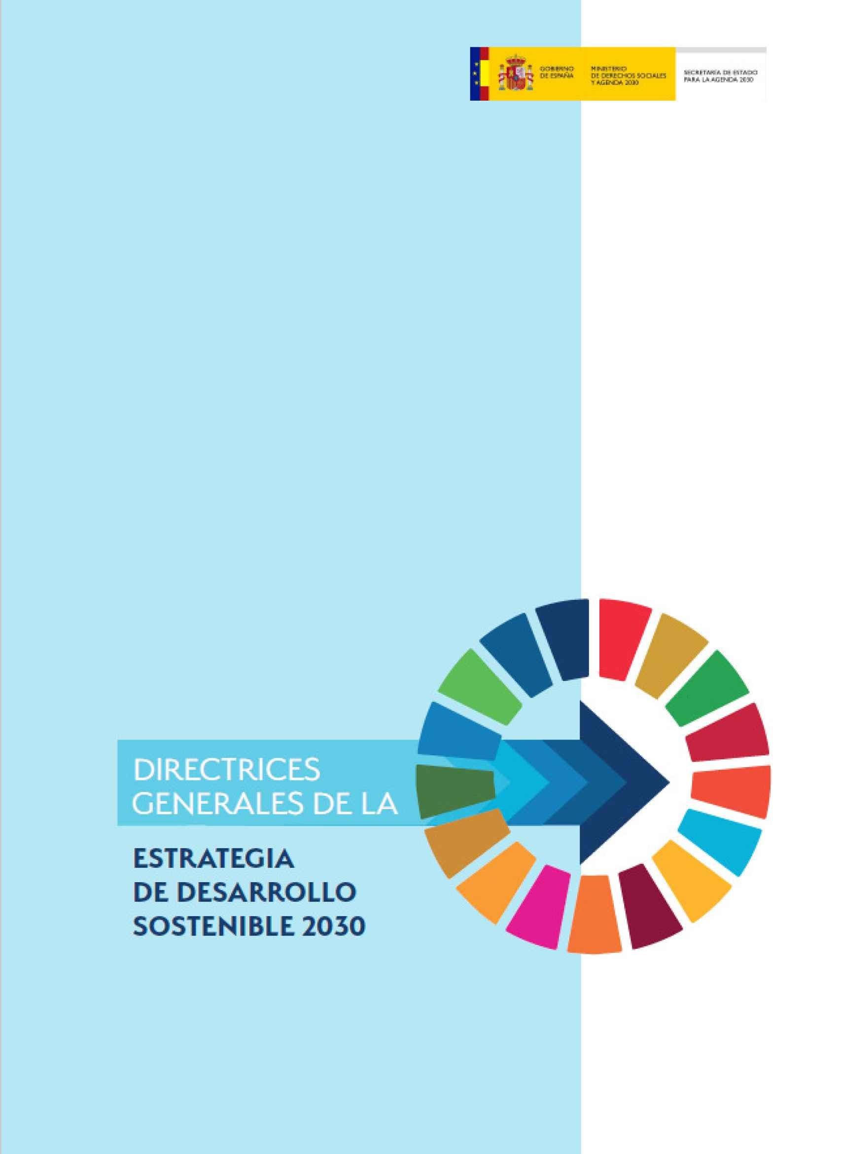 Directrices Estrategia Desarrollo Sostenible 2030
