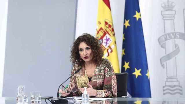 María Jesús Montero, en la rueda de prensa posterior al Consejo de Ministros.