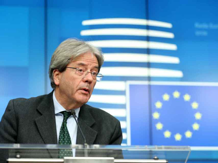 El comisario de Asuntos Económicos, Paolo Gentiloni, durante la última reunión del Eurogrupo