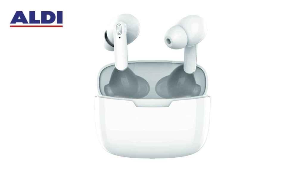 Aldi pondrá a la venta unos auriculares tipo 'AirPods' por menos de 10 euros.