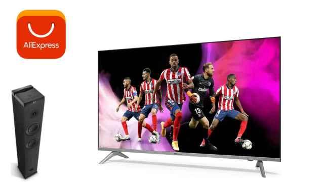 AliExpress ofrece un televisor de 43 pulgadas y una torre de sonido por 2 euros.