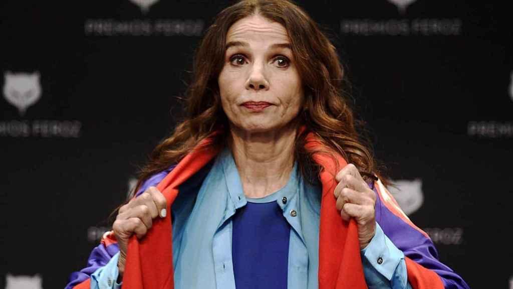 La actriz Victoria Abril.