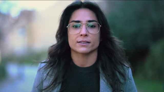 Tatiana Ballesteros en un fotograma del vídeo viral.