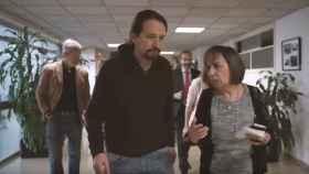 Pablo Iglesias, en su visita al ministerio recién llegado.