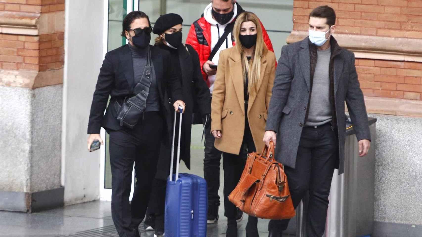 Los compañeros de 'OT' de Casademunt poniendo rumbo a Barcelona.