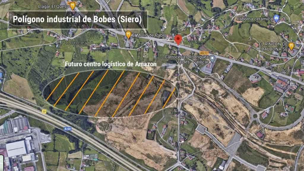 Polígono industrial de Bobes donde se va a construir el centro logístico.