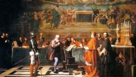 Galileo ante el tribunal de la Inquisición.