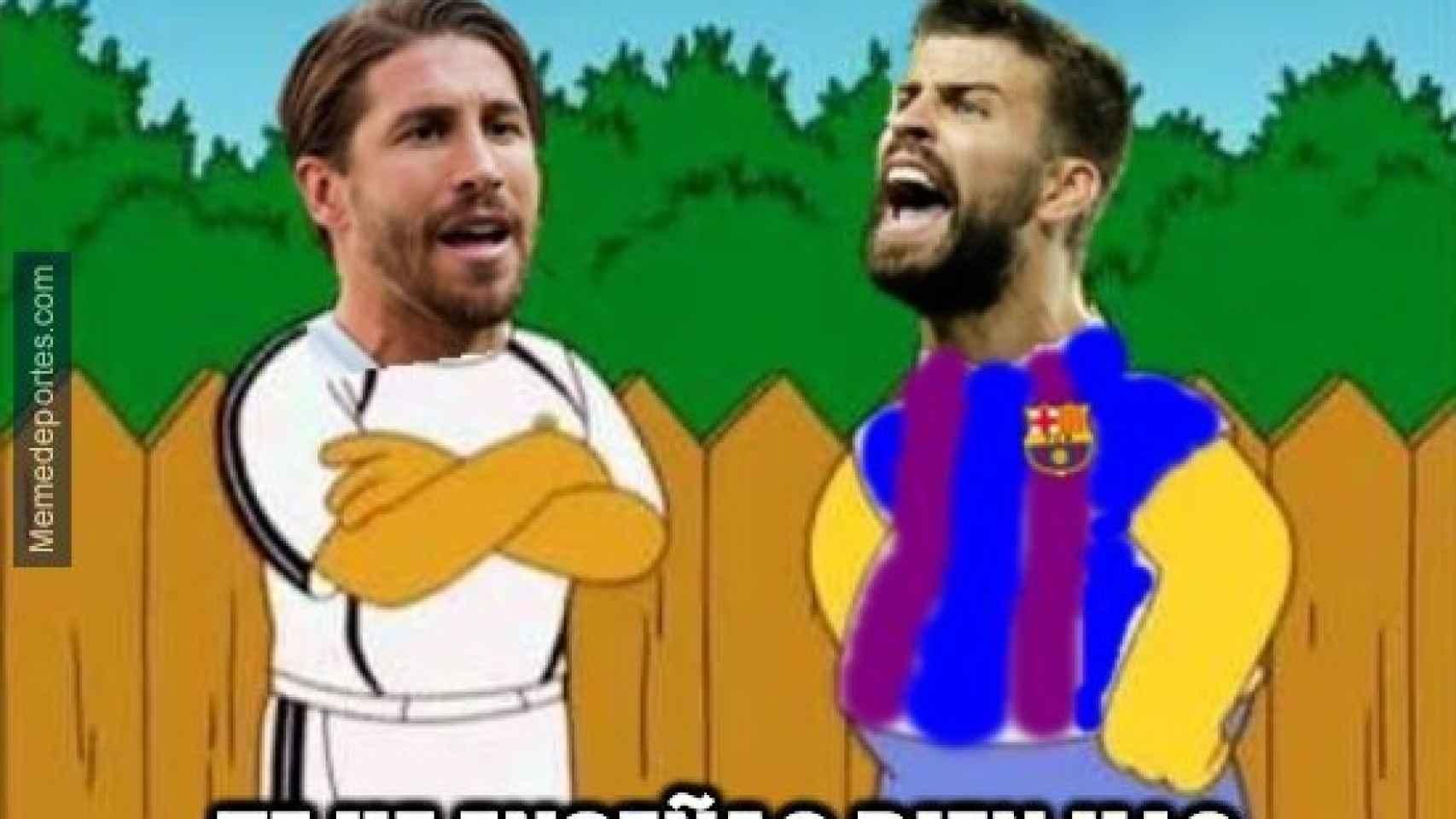 Meme del Barcelona - Sevilla de la Copa del Rey