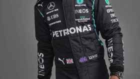 Lewis Hamilton, en la presentación de Mercedes