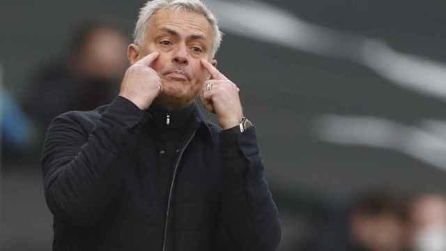 José Mourinho, durante un partido del Tottenham en la 2020/2021