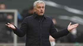 José Mourinho, en un partido del Tottenham en la temporada 2020/2021