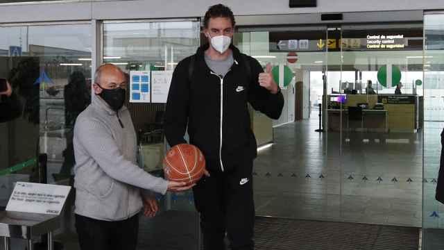 Pau Gasol, a su llegada a Barcelona