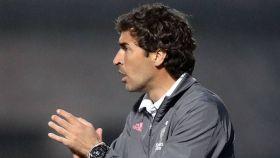 Raúl González Blanco, durante un partido del Castilla en la temporada 2020/2021