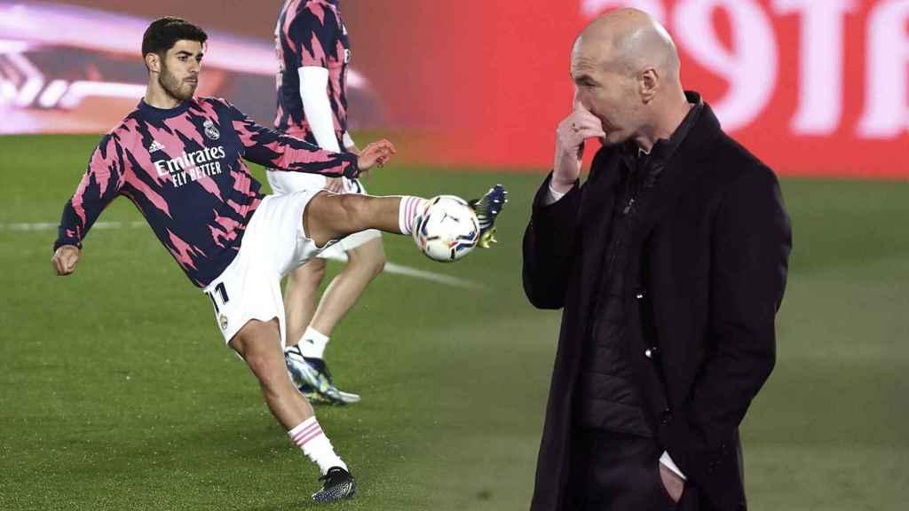 Asensio y Zidane, en un fotomontaje