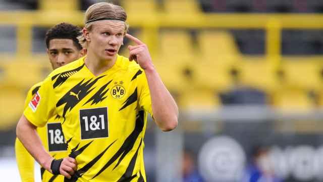 Erling Haaland, con el Borussia Dortmund