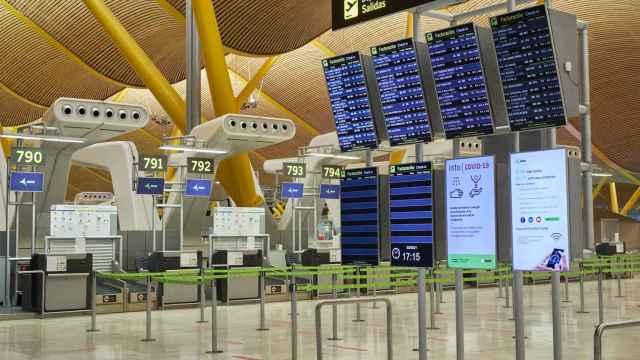 Aeropuerto Madrid-Barajas Adolfo Suárez durante la pandemia de la Covid-19.