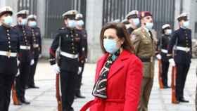 La ministra de Defensa, Margarita Robles, en la jura del cargo de Teodoro López Calderón como Jemad.