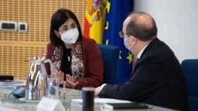 La ministra de Sanidad, Carolina Darias, durante el Consejo Interterritorial del SNS.
