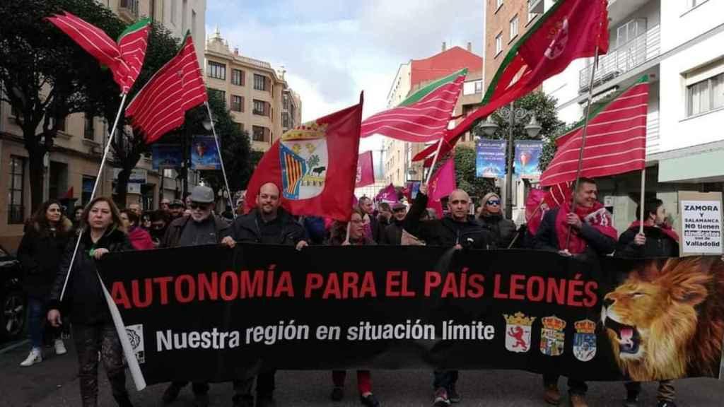 Manifestación por la autonomía de la Región Leonesa.