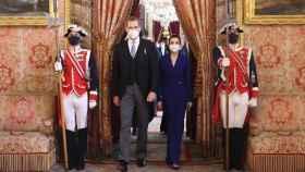 Los reyes Felipe y Letizia asisten a la recepción al cuerpo diplomático acreditado en España.