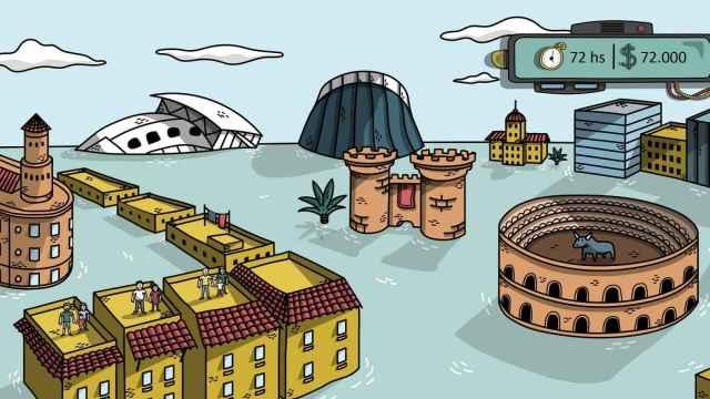 Imagen de uno de los niveles del videojuego de Nawaiam para los departamentos de Recursos Humanos.