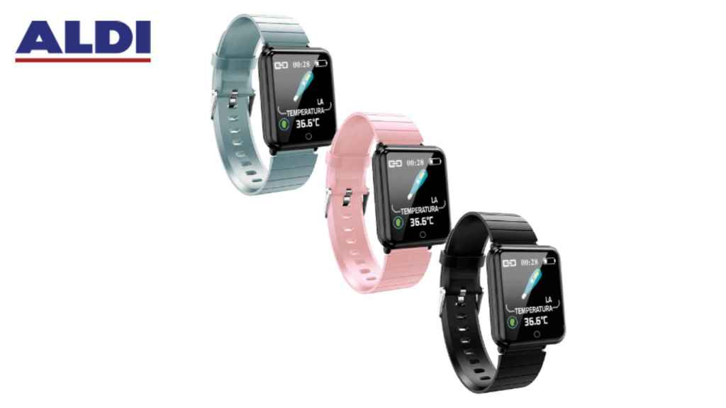 La pulsera inteligente de Aldi estará disponible en tres colores.