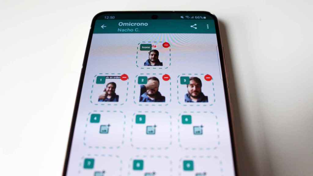 A personalized pack of stickers for WhatsApp.