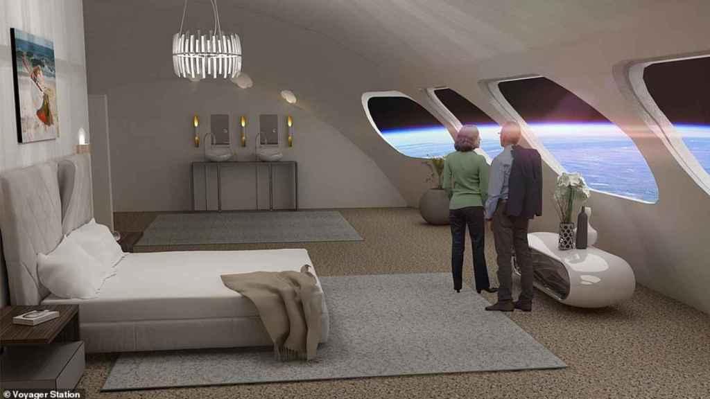 Interior habitación de la Voyager Station