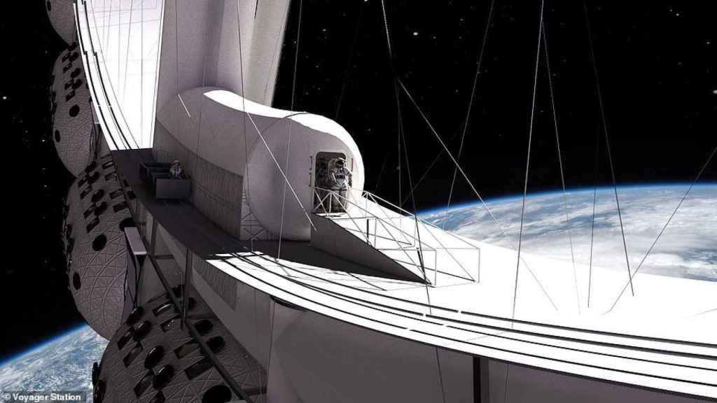 Paseo espacial en el Voyager Station
