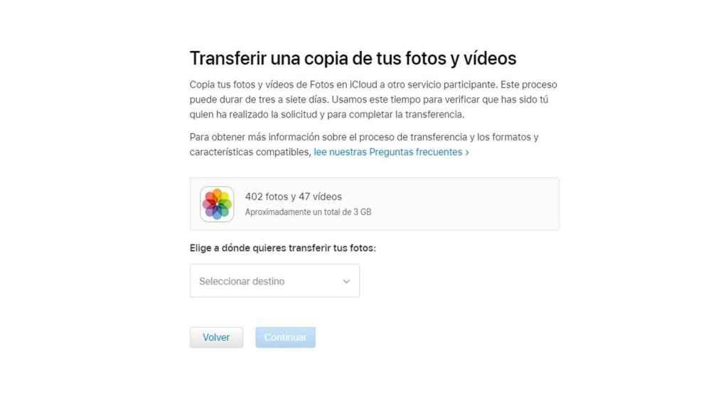iCloud a Google Fotos.