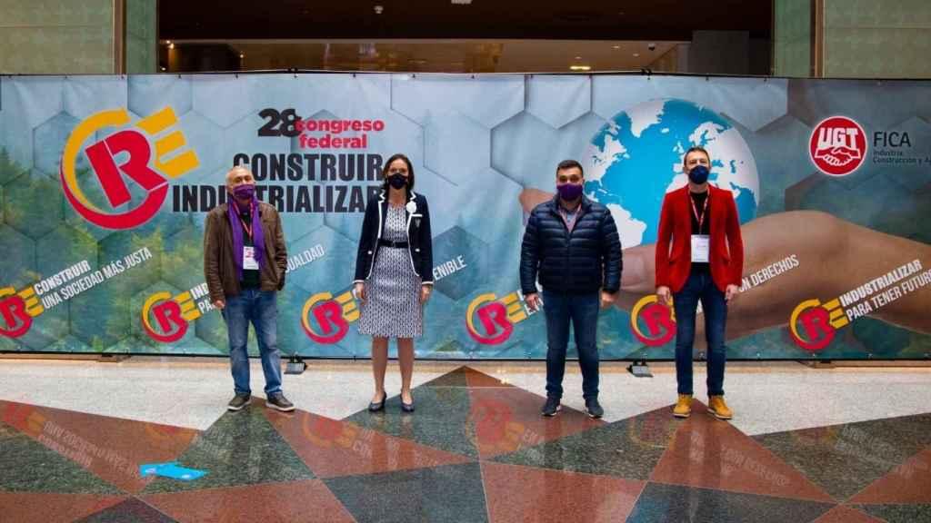 Reyes Maroto en el Congreso de UGT Fica