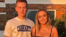 Liam McCrohan y Rachel Kennedy en una imagen de sus redes sociales.