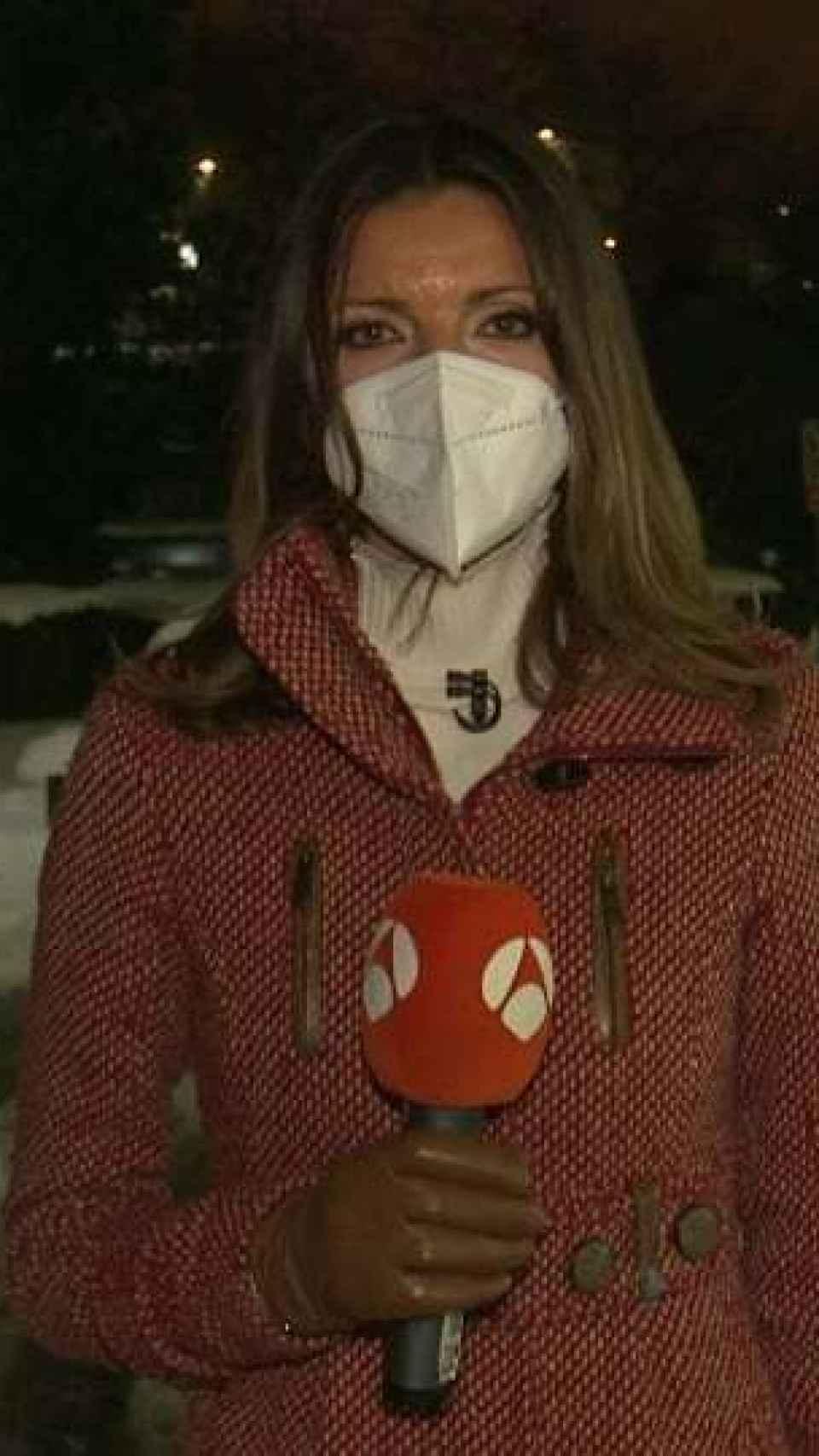 Himar cubriendo la nevada en Madrid por la borrasca Filomena.