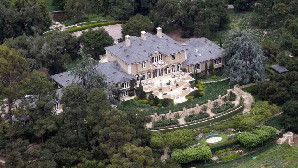 Vista aérea de la impresionante propiedad de Oprah Winfrey.